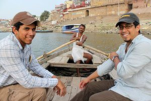 John Espinoza in India Ganges River